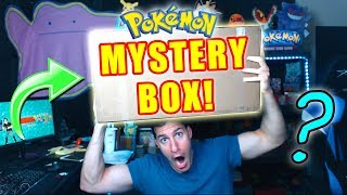 Opening MASSIVE Mystery Box With NEW POKEMON CARDS!
