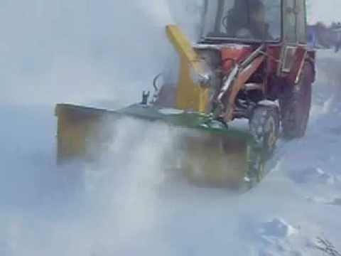 Передненавесной снегомет для МТЗ-82 с приводом от ВОМ