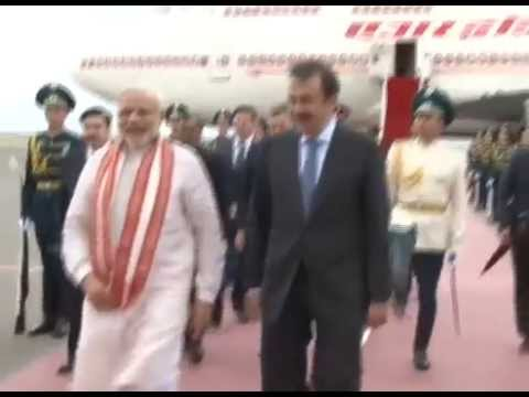 PM Modi arrives in Astana, Kazakhstan