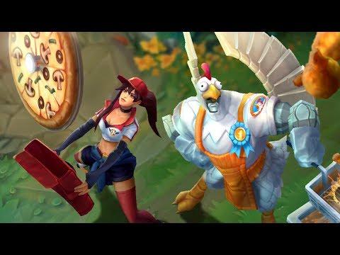Цыпленок и доставщица пиццы | Трейлер образов ко Дню едока – League of Legends thumbnail