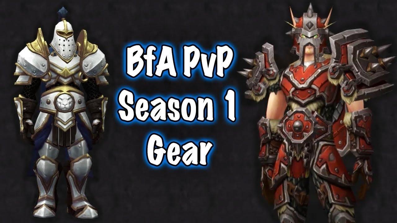 BfA Season 1 PvP Gear Sets and Warfront - Alliance and Horde