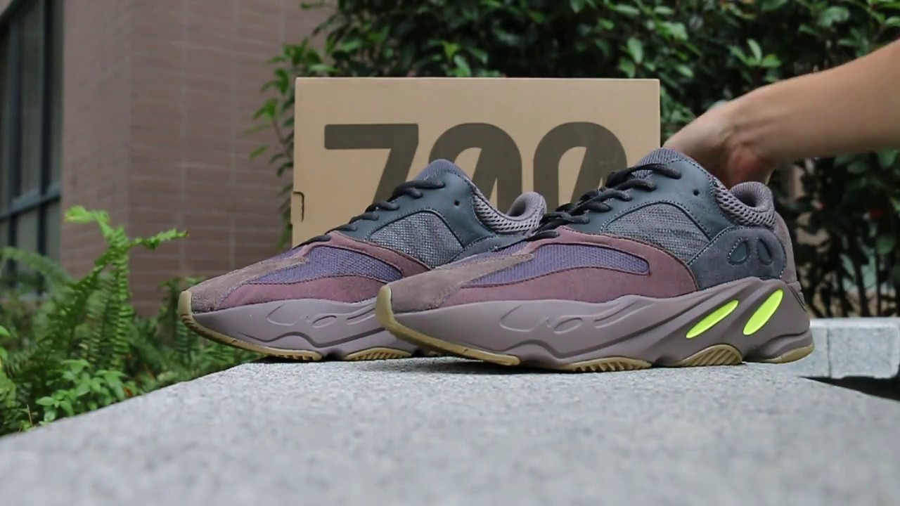 d56fea37c adidas Yeezy Boost 700 Mauve HD Review - YouTube