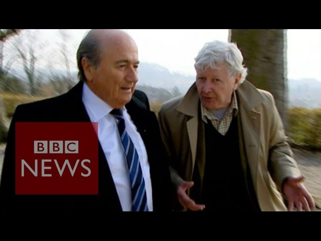 'Please can I come to your press conference Mr Blatter?' BBC News