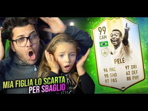 MIA FIGLIA SCARTA PELE' 99 PER SBAGLIO !! 😳 FIFA 19