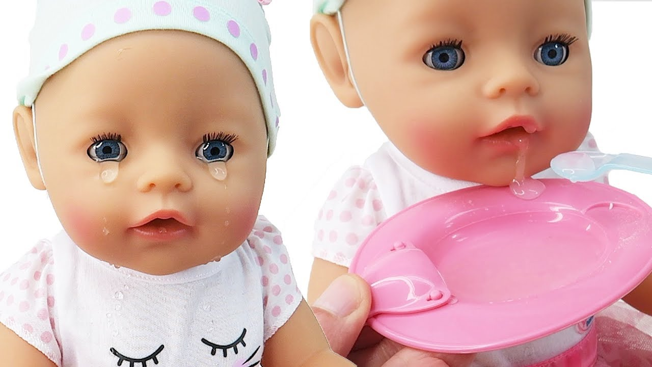 Baby Born Interactive Baby Doll That Cries Eats Drinks Youtube