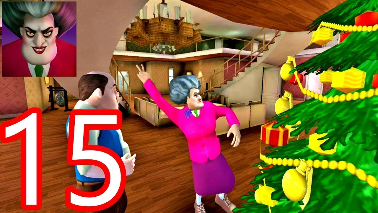 New Christmas Update Scary Teacher 3D - Christmas Debacle Part 15 New Levels Gameplay Android/iOS