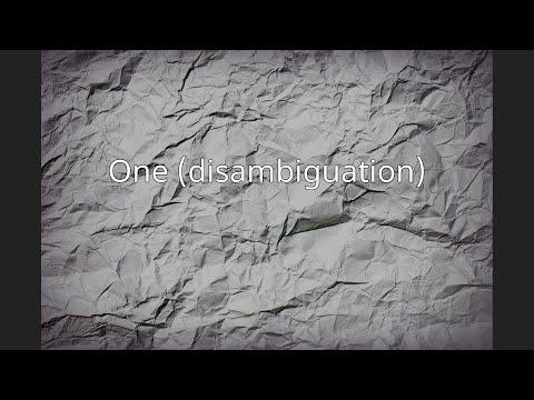 One (disambiguation)