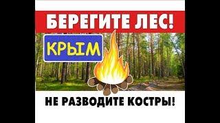 Крым. Пик сезона. Лесные пожары. Не разводите костры.
