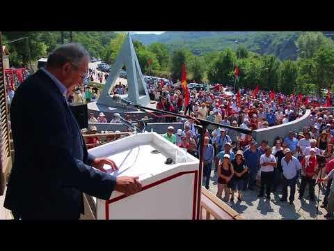 Η ομιλία του Δημήτρη Γόντικα στα εγκαίνια του Μουσείου   Μνημείου του ΔΣΕ