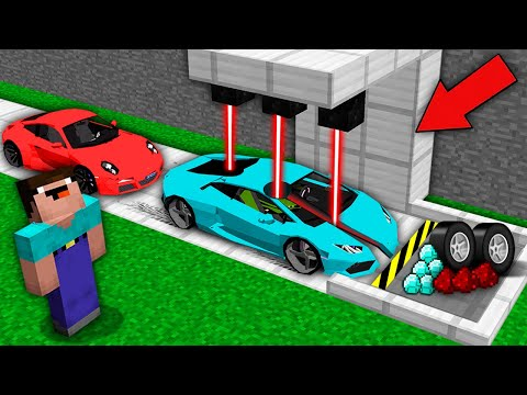 Minecraft NOOB vs PRO: WHY NOOB CUT THIS SUPER CAR WITH LASE