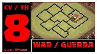 LAYOUT CV8 / TH8 :: ANTI-PT :: WAR / GUERRA :: CLASH OF CLANS