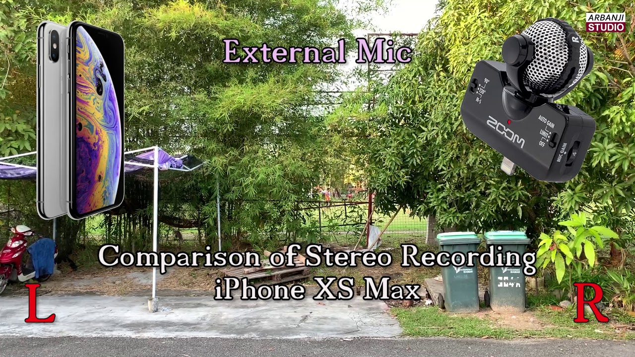 official photos a89ed 6ce2f Comparison Stereo Recording Internal Mic vs External Mic - iPhone XS Max