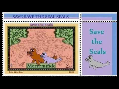 SAVE THE SEALS Merreminde Cinderella Stamps