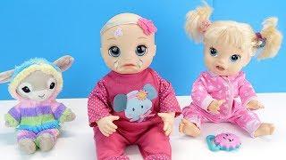 Я ТОЖЕ ХОЧУ БЫТЬ МАЛЕНЬКОЙ! #Куклы Беби Элайв Играем Как Мама Кормим Кашей Укладываем Спать