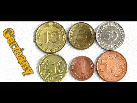 Coin collection | Germany | 5 Coins ( Euro Cent & Pefnning ) from 1982
