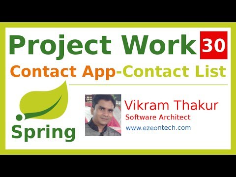30 - Spring MVC - Project Work | Contact Listing Using JSTL Tag (Contact App) - By eZeon