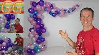 como hacer un arco de globos - arco organico de globos - decoracion con globos