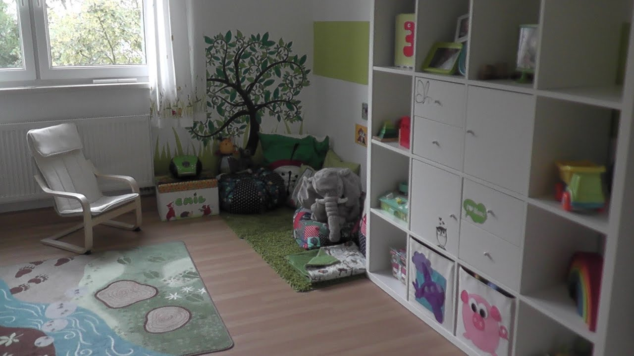 kinderzimmer themenzimmer wald und wiese roomtour. Black Bedroom Furniture Sets. Home Design Ideas