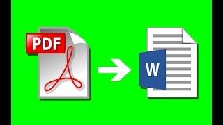 кАК из PDF сделать DOC WORD формат