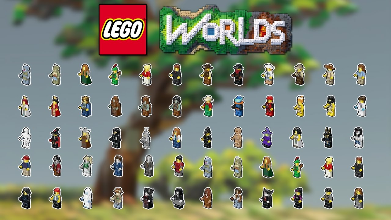 lego worlds tous les personnages youtube. Black Bedroom Furniture Sets. Home Design Ideas