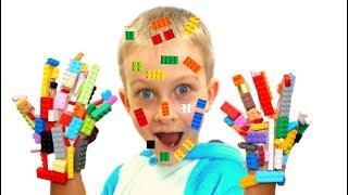Tawaki kids pretend play lego hands and lego face