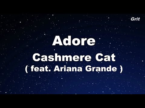 Adore - Cashmere Cat Ft. Ariana Grande Karaoke 【No Guide Melody】Instrumental