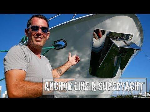 Wie man einen Superyacht anchor