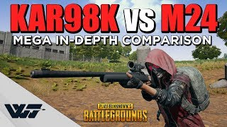 GUIDE: Kar98k vs M24 - MEGA COMPARISON - (+Critical Misalignment Uncovered) - PUBG