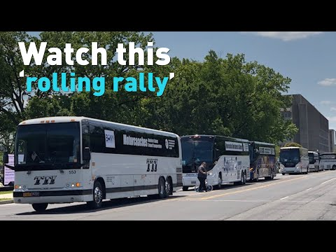 Bus Companies In U.S. Stage 'rolling Rally' On Washington