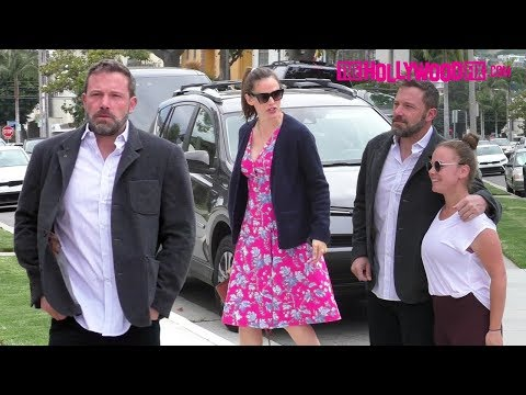 Ben Affleck & Jennifer Garner Get Stopped By A Fan While Arriving To Church With The Kids 6.23.19