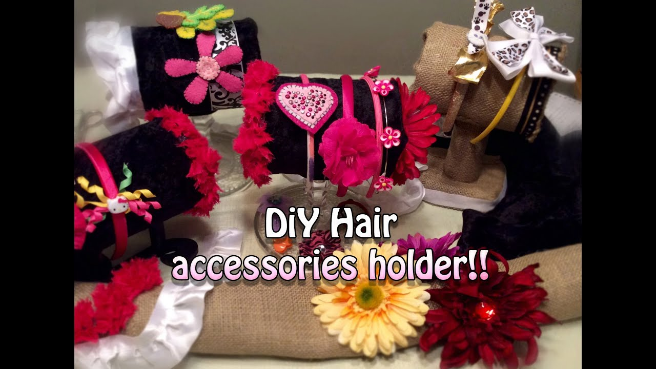 DIY Hair Band Holder With Dollar Store Finds! Organize And Storage Ideas