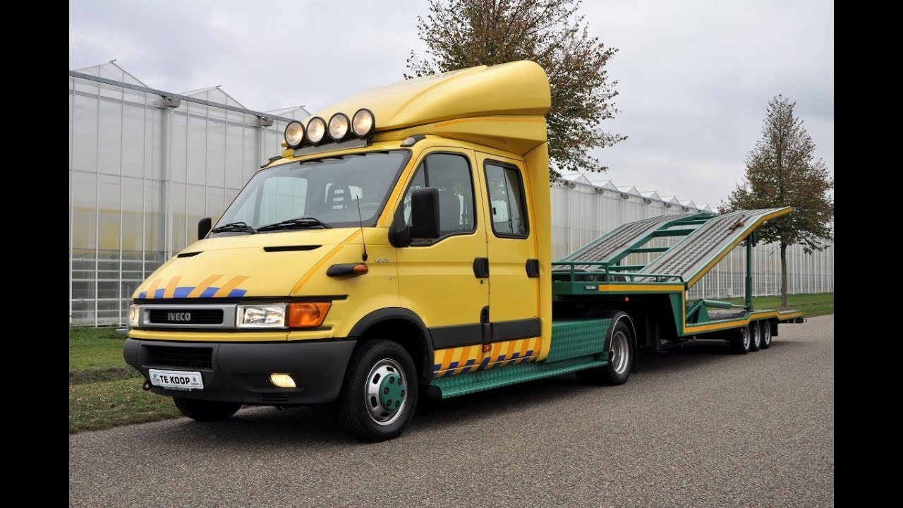 Verkocht Sold Verkauft Vendu Iveco Daily 40c15 Car Transporter