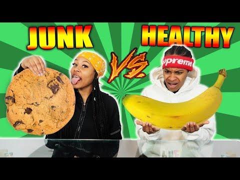 HEALTHY VS JUNK FOOD CHALLENGE!