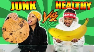 HEALTHY VS JUNK FOOD CHALLENGE! jun.k 検索動画 15