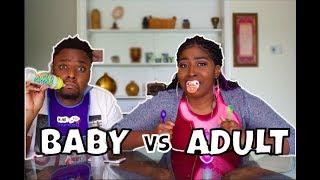 BABY FOOD vs ADULT FOOD Challenge (HILARIOUS)