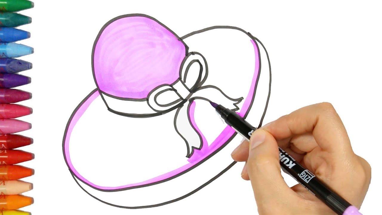 Wie zeichnet man Hüte   Hut Färbung   Ausmalbilder Hüte   Zeichnen ...