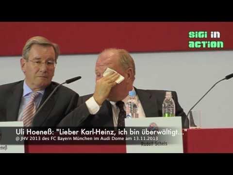 """Uli Hoeneß: """"Lieber Karl-Heinz, ich bin überwältigt..."""" @ JHV 2013 FC Bayern München 13.11.2013"""