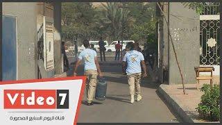 بالفيديو.. الأمن يمنع دخول «إسطوانة غاز» إلى جامعة الأزهر