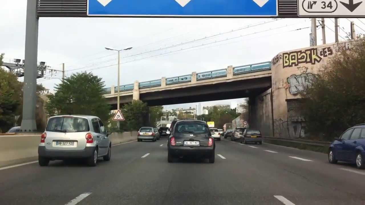 Fabuleux Autoroute A7, sortie et entrée sur Marseille - YouTube FU68