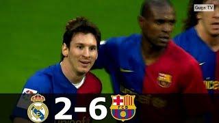 Реал Мадрид Барселона 2 6 Обзор Матча Чемпионата Испании 02 05 2009 HD