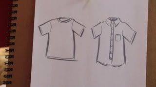 How to Sketch a Shirt on Paper : Various Crafts