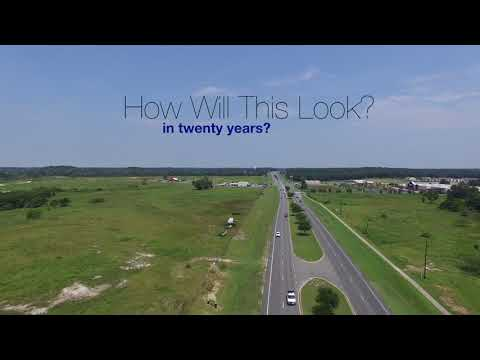 Live Oak FL I 10 To Downtown Aerial Video