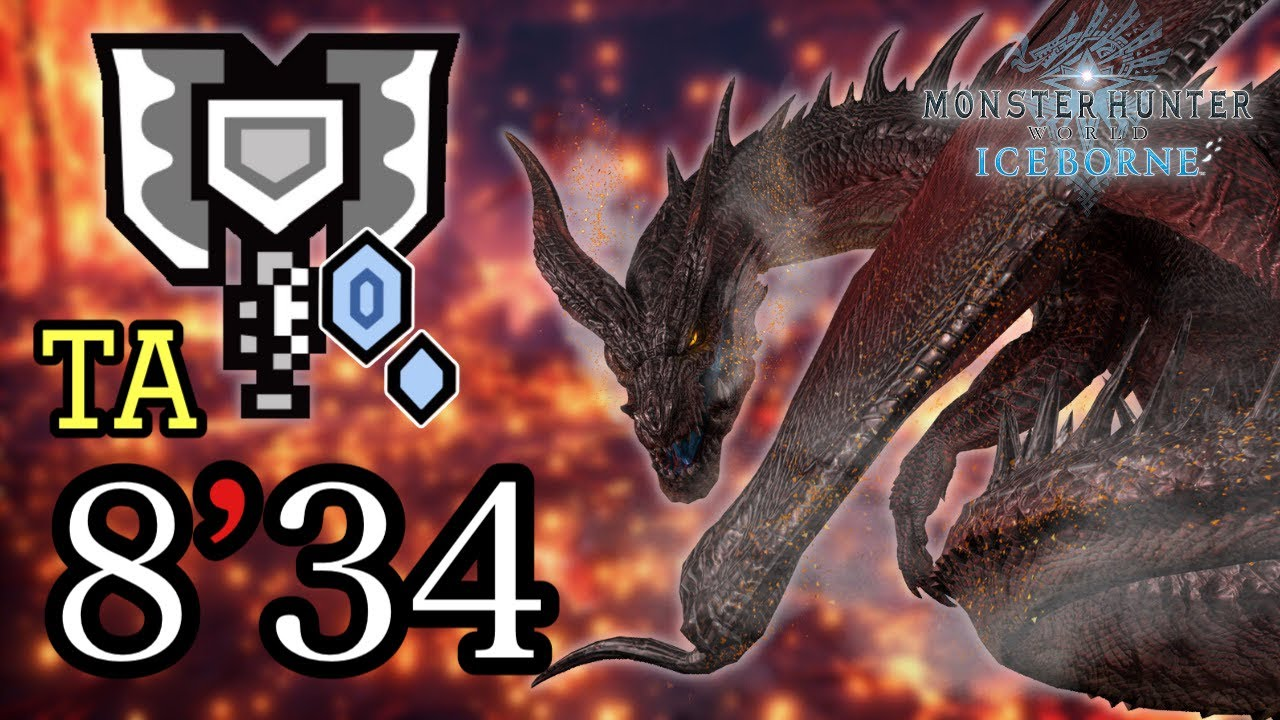 [MHWI:PC] Crimson Fatalis(mod) 8:34 Charge Blade solo TA 紅黑龍模組 充能斧 盾斧 チャージアックス