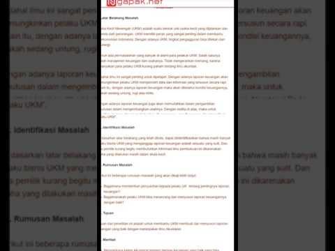 Contoh Rumusan Masalah Makalah Penelitian Dan Skripsi Youtube