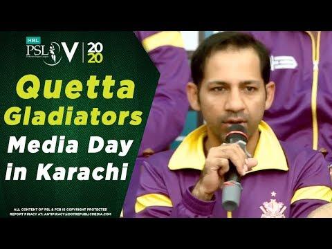 Quetta Gladiators Media Day In Karachi | Media Day | HBL Pakistan Super League 2020