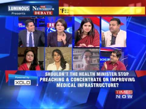 The Newshour Debate: NDA's morality minister Harsh Vardhan - Part 1 (27th June 2014)
