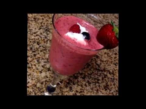 Strawberry banana berry drink 6-28-2013