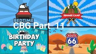 Heure du coucher, Camp d'été, Fête d'anniversaire, Voyage d'aventure. (CBG ROBLOX) Partie 11