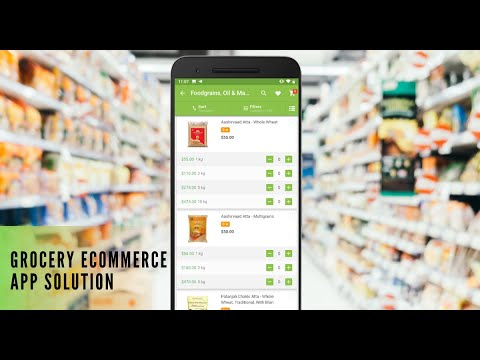 eCommerce Grocery Delivery Mobile App Solution | iOS & Android App for Supermarkets