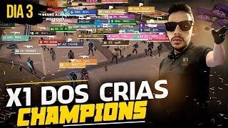? FREE FIRE ? AO VIVO - X1 DOS CRIAS CHAMPIONS (DIA 3)  - RUMO AOS #830K INSCRITOS
